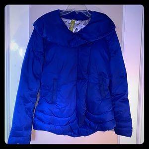 Soia & Kyo Blue Puffer Coat - Size Medium